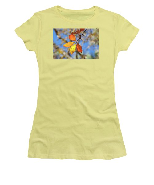 Women's T-Shirt (Junior Cut) featuring the photograph It's Time To Change by Linda Unger