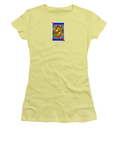 Jack Of Hearts Women's T-Shirt (Athletic Fit)