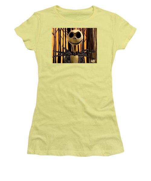 Jack Skelington Women's T-Shirt (Athletic Fit)