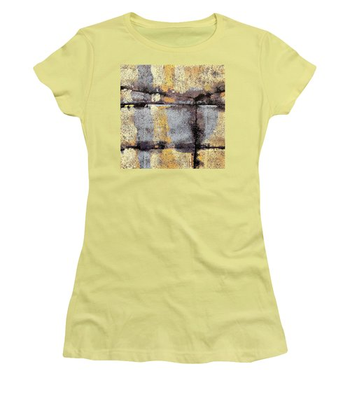 Women's T-Shirt (Junior Cut) featuring the painting Jagged Lavendar by Maria Huntley