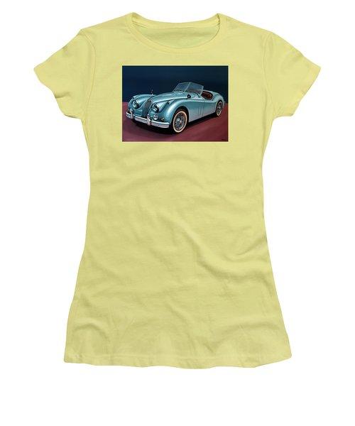 Jaguar Xk140 1954 Painting Women's T-Shirt (Athletic Fit)