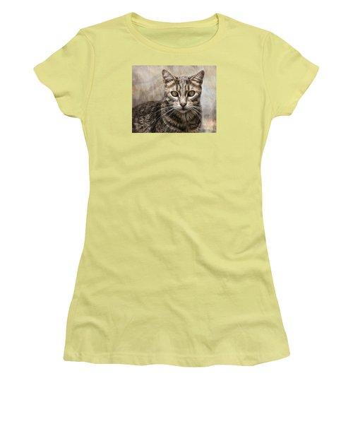 Janie's Kitty Women's T-Shirt (Junior Cut) by Rhonda Strickland