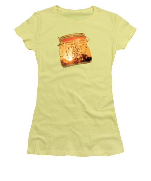 Women's T-Shirt (Junior Cut) featuring the photograph Jar Full Of Sunshine by Linda Lees
