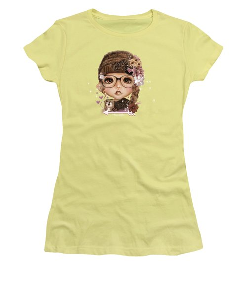 Java Joanna Women's T-Shirt (Junior Cut) by Sheena Pike