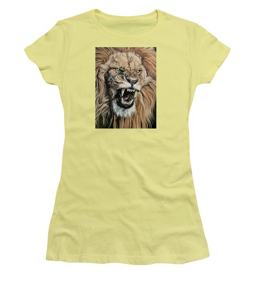 Jealous Roar Women's T-Shirt (Junior Cut) by Nathan Rhoads