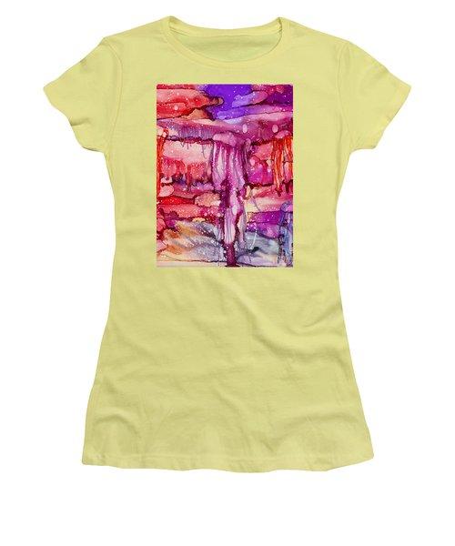 Jellyfish Women's T-Shirt (Junior Cut) by Alene Sirott-Cope