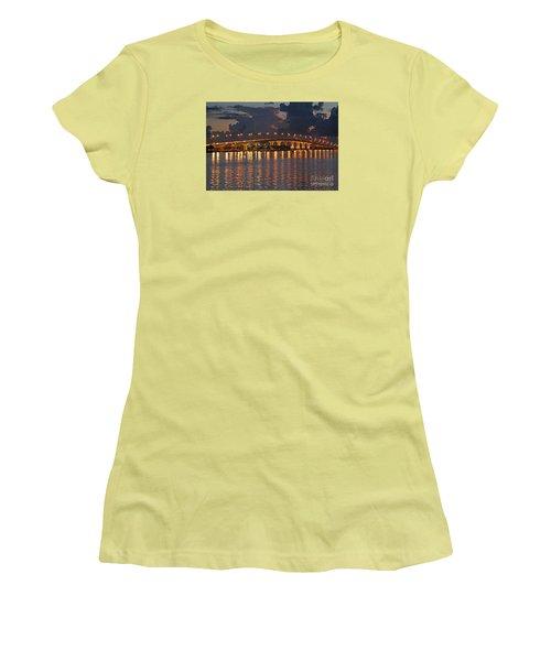 Jensen Beach Causeway Women's T-Shirt (Junior Cut) by Tom Claud