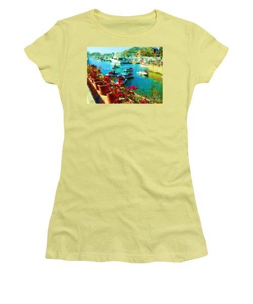 Jet Skis And Flowers Women's T-Shirt (Junior Cut) by Gerhardt Isringhaus