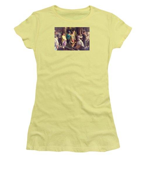 Women's T-Shirt (Junior Cut) featuring the photograph Jidai Matsuri Xiv by Cassandra Buckley