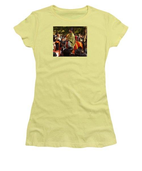Women's T-Shirt (Junior Cut) featuring the photograph Jidai Matsuri Xvi by Cassandra Buckley