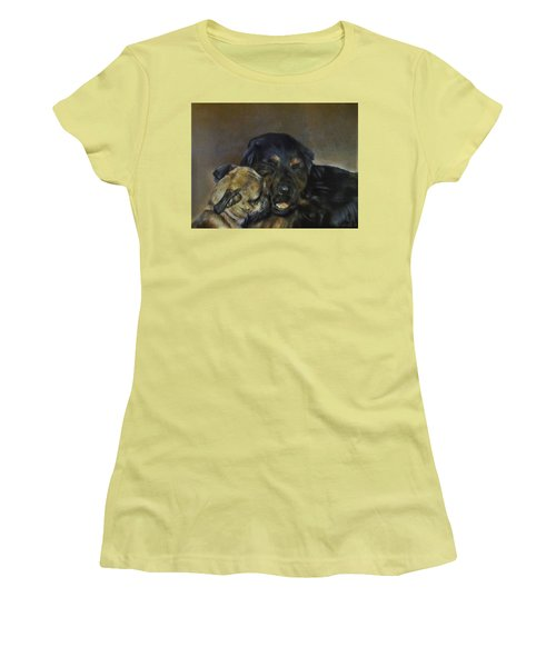 Jim And Ozzy Women's T-Shirt (Junior Cut) by Cherise Foster
