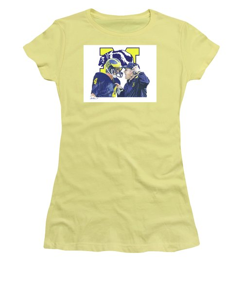 Jim Harbaugh And Bo Schembechler Women's T-Shirt (Athletic Fit)