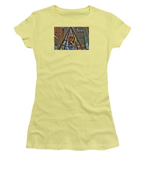Joe Louis Fist Detroit Mi Women's T-Shirt (Athletic Fit)