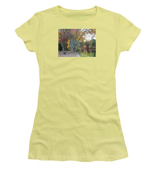 Johnson's Pond Rest Area Women's T-Shirt (Athletic Fit)