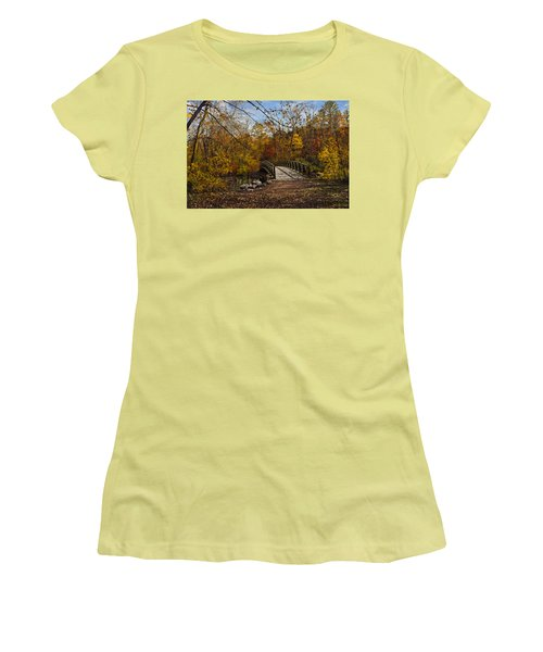 Jordan Park Bridge Women's T-Shirt (Junior Cut) by Judy Johnson