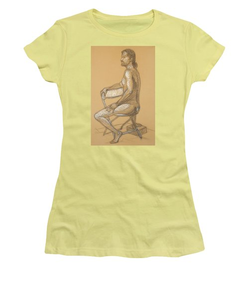 Joseph - Seated Women's T-Shirt (Junior Cut) by Donelli  DiMaria