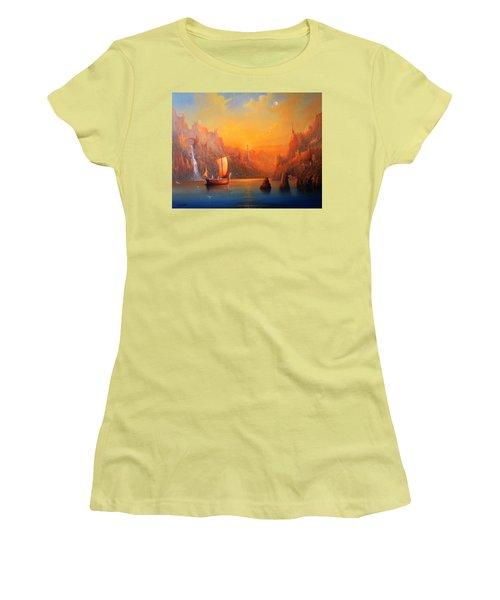 Journey To The Undying Lands Women's T-Shirt (Junior Cut) by Joe  Gilronan