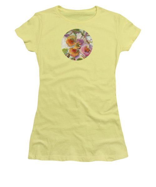 Women's T-Shirt (Junior Cut) featuring the painting Joy by Mary Wolf