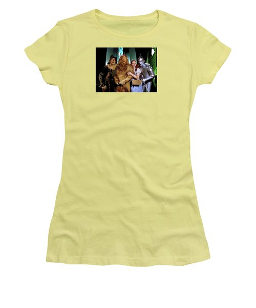 Judy Garland And Pals The Wizard Of Oz 1939-2016 Women's T-Shirt (Junior Cut) by David Lee Guss