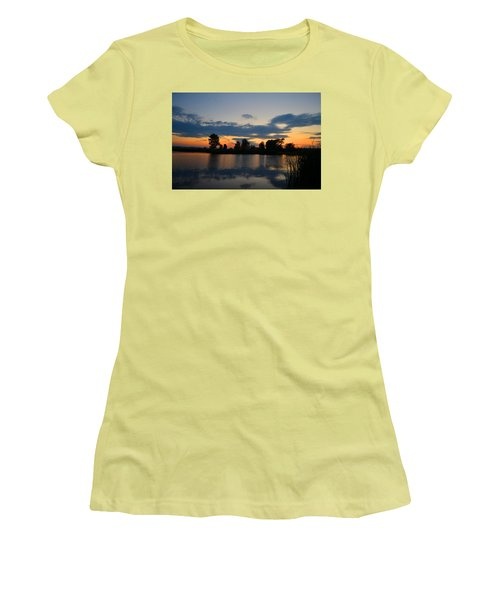 July Sunset Women's T-Shirt (Athletic Fit)
