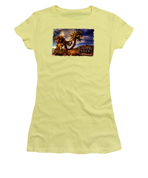 Jumping Cholla Cactus Women's T-Shirt (Athletic Fit)