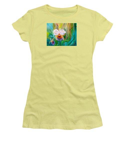 Jungle Orchid Women's T-Shirt (Athletic Fit)