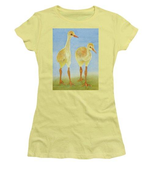 Junior Birdmen Women's T-Shirt (Junior Cut) by Judy Mercer