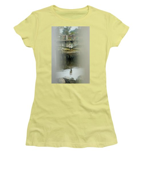 Women's T-Shirt (Junior Cut) featuring the photograph Just A Little Older With A Little More Grey... by John Glass