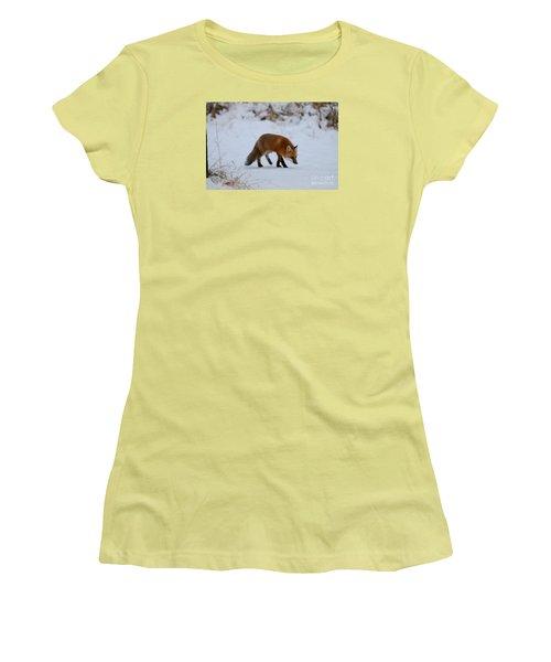 Just Hunting For Breakfast Women's T-Shirt (Junior Cut) by Sandra Updyke
