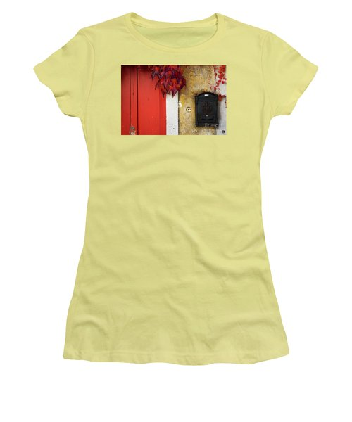 Women's T-Shirt (Junior Cut) featuring the photograph Just Red by Yuri Santin
