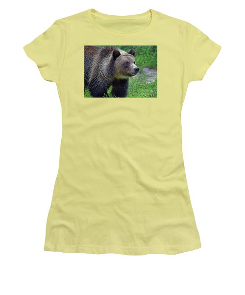 Juvie Grizzly Women's T-Shirt (Junior Cut) by Larry Nieland
