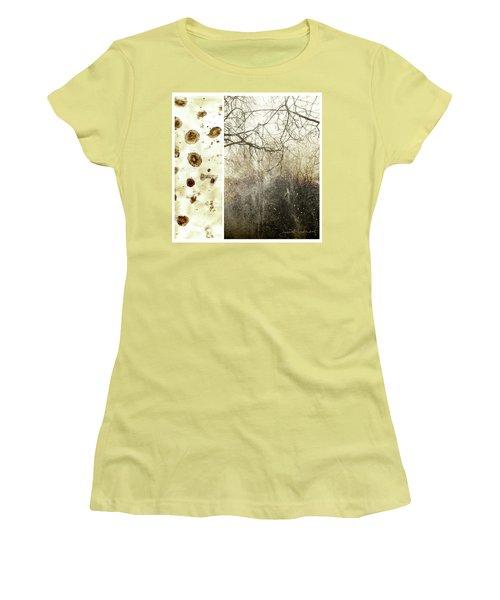 Juxtae #17 Women's T-Shirt (Junior Cut) by Joan Ladendorf