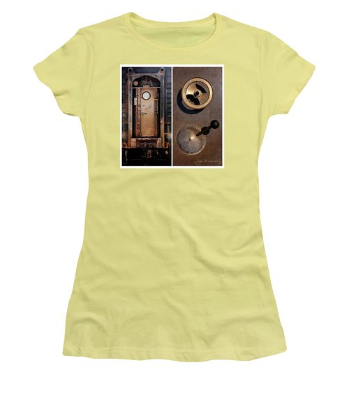 Juxtae #24 Women's T-Shirt (Junior Cut) by Joan Ladendorf