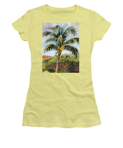 Kaanapali Palm Women's T-Shirt (Junior Cut) by William Reed