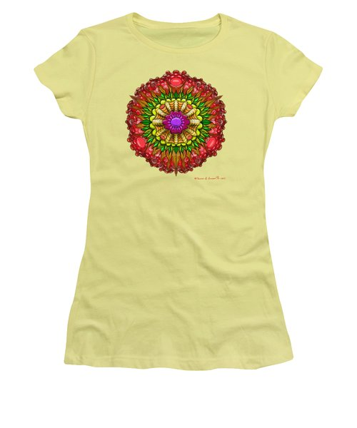 Kaleido Flower W Berry Women's T-Shirt (Athletic Fit)