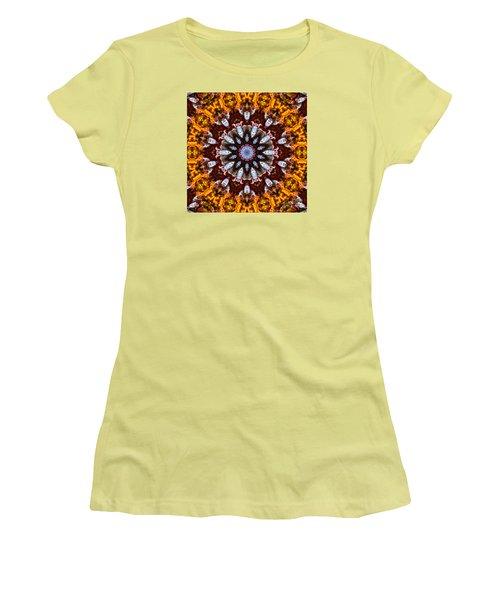 Kaleidoscope In Gold Women's T-Shirt (Junior Cut) by Marilyn Carlyle Greiner