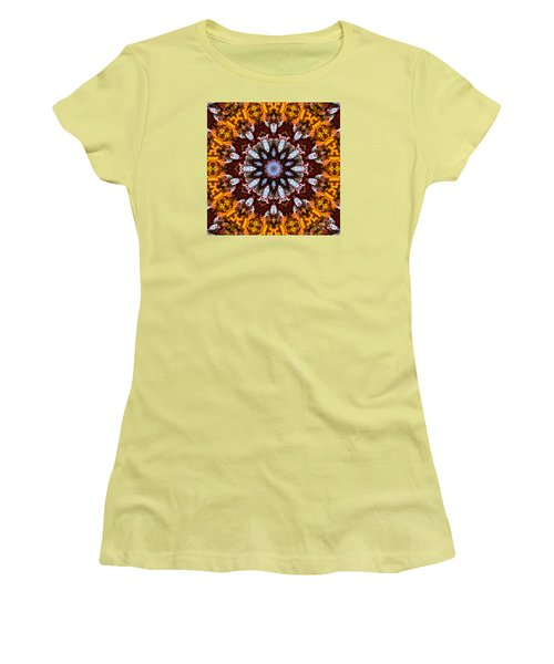 Kaleidoscope In Gold Women's T-Shirt (Athletic Fit)