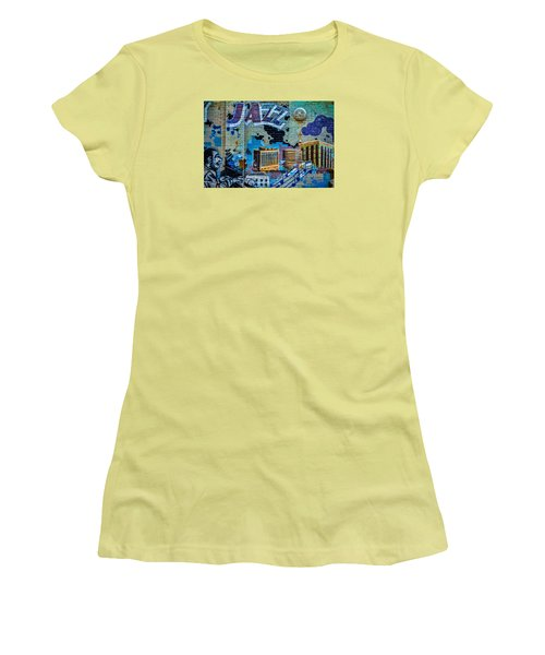 Kansas City Jazz Mural Women's T-Shirt (Athletic Fit)