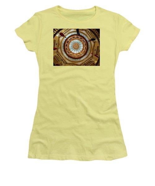 Kansas Dome Women's T-Shirt (Junior Cut) by Jim Mathis