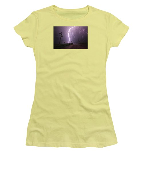 Kansas Lightning Women's T-Shirt (Junior Cut) by Ryan Crouse