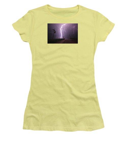 Kansas Lightning Women's T-Shirt (Athletic Fit)