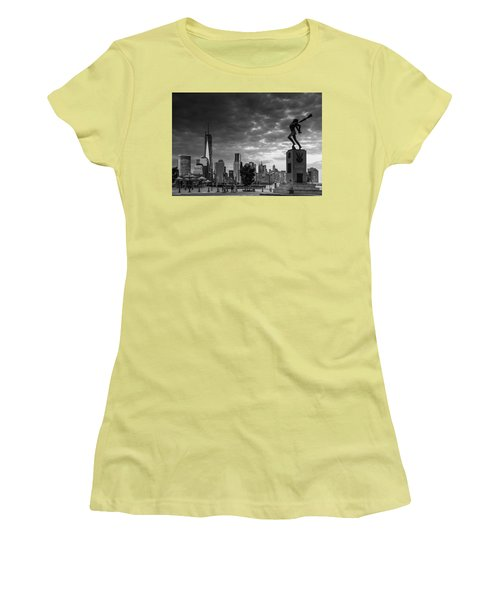 Women's T-Shirt (Junior Cut) featuring the photograph Katyn New World Trade Center In New York by Ranjay Mitra
