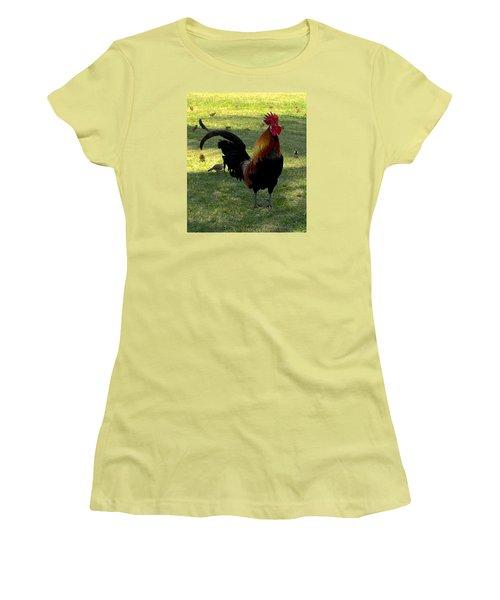 Kauai Alarm Clock Women's T-Shirt (Junior Cut) by Brenda Pressnall