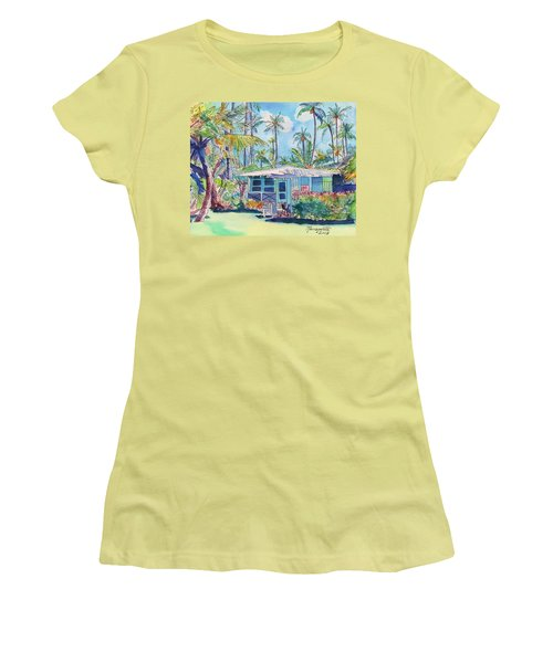 Kauai Blue Cottage 2 Women's T-Shirt (Athletic Fit)