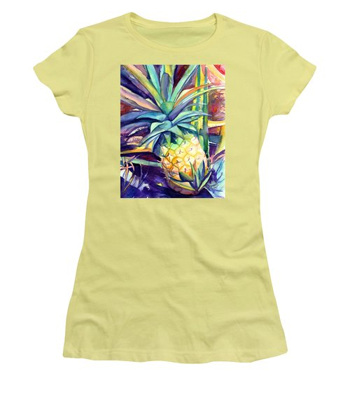 Kauai Pineapple 4 Women's T-Shirt (Athletic Fit)