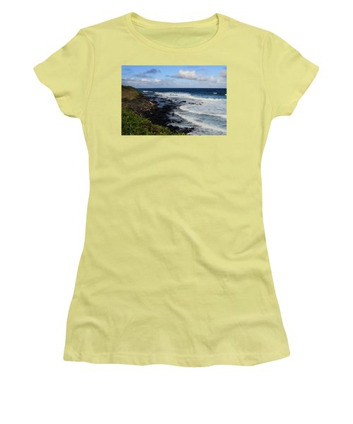 Kauai Shore 1 Women's T-Shirt (Athletic Fit)