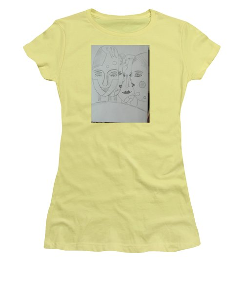 Women's T-Shirt (Junior Cut) featuring the drawing Keeper Of Secrets by Sharyn Winters