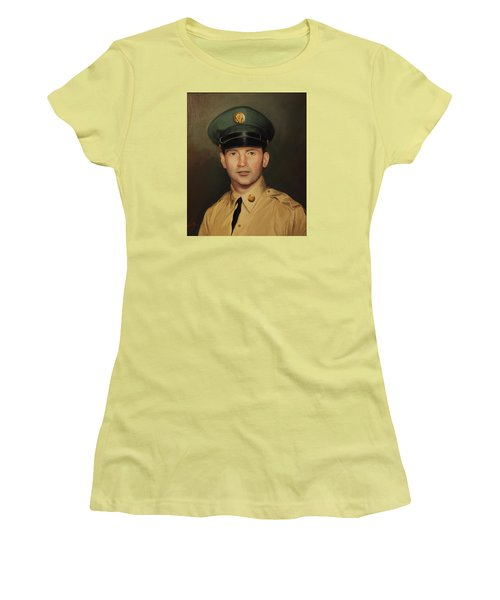 Women's T-Shirt (Junior Cut) featuring the painting Kenneth Beasley by Glenn Beasley
