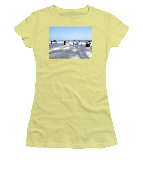 Kenya Wedding On Beach Wide Scene Women's T-Shirt (Athletic Fit)