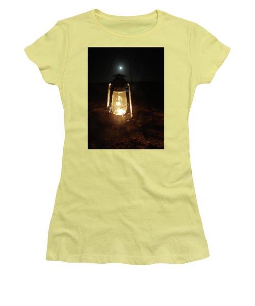 Kerosine Lantern In The Moonlight Women's T-Shirt (Junior Cut) by Exploramum Exploramum